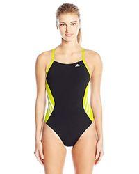 adidas - Solid Infinitex Splice Performance One Piece Swimsuit - Lyst
