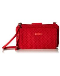 Vera Bradley - Iconic Deluxe All Together Crossbody, Microfiber - Lyst