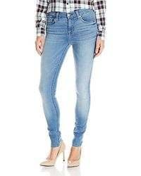 7 For All Mankind - The Skinny Jean In Light Laurel - Lyst