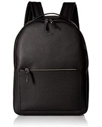 Lacoste - Chantaco Leather Backpack With Tonal Croc, - Lyst