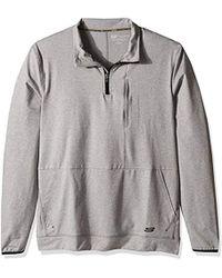 3551272c5f9c Lyst - Skechers Space Dye Quarter Zip in Black for Men