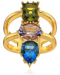 Nicole Miller - Gypset Mixed Three Stone Ring, Size 7 - Lyst