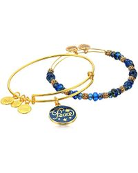 ALEX AND ANI - Holiday Peace Set Of 2 Charm Bracelet - Lyst