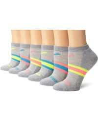 Saucony - 6-pack Performance No Show Socks, - Lyst
