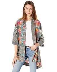 Johnny Was - Printed Kimono With Embroidery - Lyst