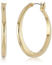 """Kenneth Cole - """"shiny Earrings"""" Small Hoop Earrings - Lyst"""