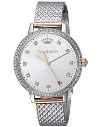 Juicy Couture - 'socialite' Quartz Two-tone And Stainless Steel Dress Watch, Color:silver-toned (model: 1901612) - Lyst