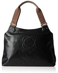 Orla Kiely - Flower Stem Embossed Leather Classic Zip Shoulder - Lyst