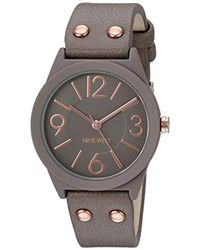 Nine West - Grey Rubberized Strap Watch - Lyst