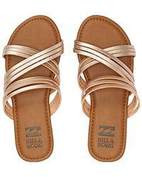 Billabong - Sandy Toes Flat Sandal - Lyst