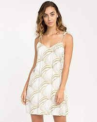 RVCA - Marigold V-neck Dress - Lyst