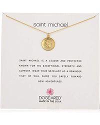 "Dogeared - Saint Michael Necklace St Michael Chain Necklace, 16"" - Lyst"