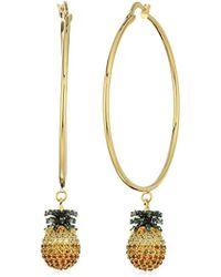 Noir Jewelry - Pineapple Hoop Earrings - Lyst
