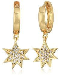 Rebecca Minkoff - S Huggie Hoop Earrings With Pow Charm - Lyst
