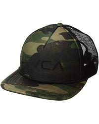 6b885575f14 RVCA - Foamy Trucker Hat - Lyst