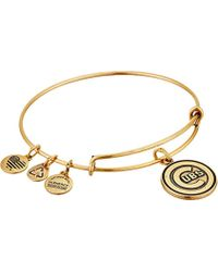 ALEX AND ANI - Chicago Cubs Cap Logo Expandable Bangle Bracelet - Lyst