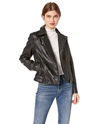 Cupcakes And Cashmere - Calgary Washed Vegan Leather Moto - Lyst