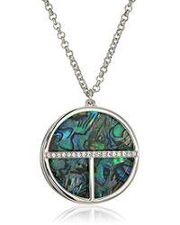 T Tahari - Blue/crystal Disc Pendant Necklace - Lyst