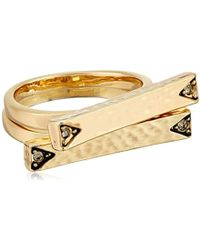 House of Harlow 1960 - S Scutum Bar Ring Set - Lyst
