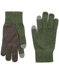 True Religion - Two Tone Knit Touchtek Gloves - Lyst