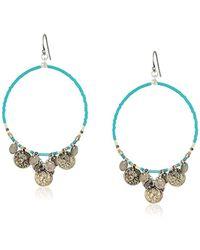 Chan Luu - Turquoise Mix Coin Hoop Earrings - Lyst