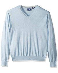 GANT - Silk Blended V Neck Sweater - Lyst