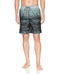 Calvin Klein - Ocean Stripe Printed Swim Trunk - Lyst