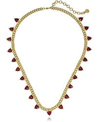 """Nicole Miller - Trilliant Station Gold Chain Necklace, 20"""" + 3"""" Extender - Lyst"""