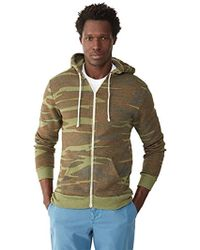 Alternative Apparel - Rocky Zip Hoodie Sweatshirt - Lyst