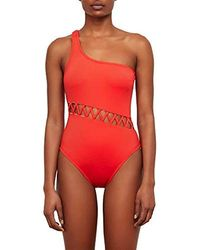 Kenneth Cole - Shoulder One Piece Swimsuit - Lyst