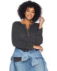 1d511555c58 Lyst - Jones New York Plus Size Longsleeve Y-neck Piped Blouse With ...