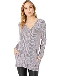 Splendid - Swimsuit Cover Up Stripe Hoodie Tunic - Lyst