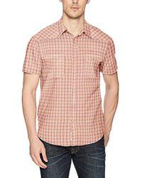 3e321f46 Lucky Brand - Short Sleeve Woven Western Shirt - Lyst
