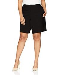 38775321d1c Lyst - Moving Comfort Plus Size Fearless Bermuda in Black