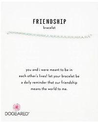 Dogeared - S Ss Blue Friendship Bracelet, Silver, 9 - Lyst