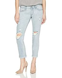3695b60f331f7 James Jeans Neo Beau Slim Fit Boyfriend Jean In Patchwork in Blue - Save  53% - Lyst