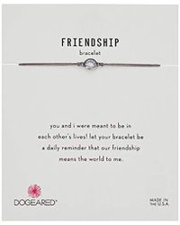 "Dogeared - Friendship Crystal On Pebble Cord Bracelet, Sterling Silver, 9"" - Lyst"