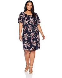 Lucky Brand - Size Plus Printed Ruffle Dress In Pink Multi, - Lyst