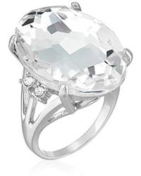 Guess - Ring With Stones, Silver, 7 - Lyst