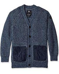 G-Star RAW - Rovic Heavy Cardigan Sweater - Lyst