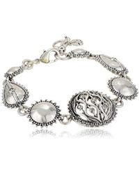 Lucky Brand - Openwork Pave Collar Bracelet, Silver, One Size - Lyst