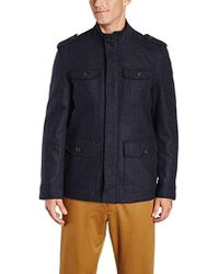 Tommy Hilfiger - Wool-blend Melton Military Jacket - Lyst