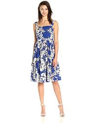 2aa2aa63715 Eliza J - Sleeveless Fit And Flare Tiered Dress - Lyst