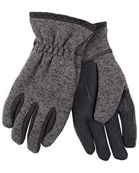 Levi's - Heathered Touchscreen Knit Glove With Stretch Palm, Charcoal Mix Large - Lyst
