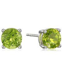 11f96bb31 PANDORA Silver Rock Crystal April Birthstone Stud Earrings in Metallic -  Lyst