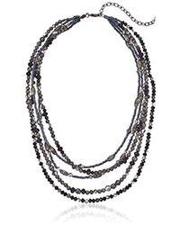 Napier - Multi Beaded Multirow Necklace, Hematite Jet - Lyst