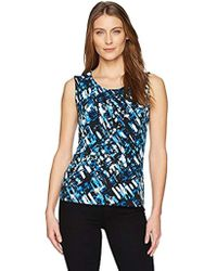 Kasper - Topstitch Ity Pleat Neck Cami - Lyst