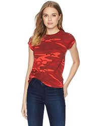Pam & Gela - Red Camo Short Sleeve Basic Tee - Lyst