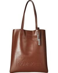 Calvin Klein - Nora Novelty North south Magazine Tote - Lyst 5f6ed44a719