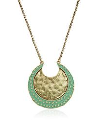 Lucky Brand - S Pendant Moon Necklace - Lyst